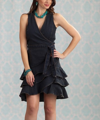Blue Rugar Denim Wrap Dress - Women