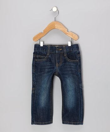 Dark Wash Rider Carpenter Bootcut Jeans - Toddler