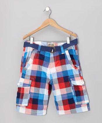 Red Plaid Shorts - Toddler & Boys