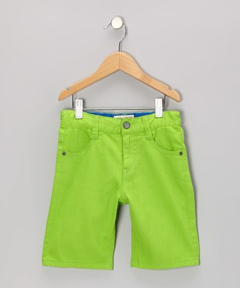Wild Lime Bull Denim Shorts - Toddler & Boys