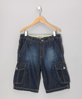 Denim Fashion Cargo Shorts - Toddler & Boys