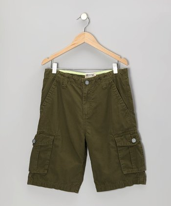Olive Fashion Cargo Shorts - Toddler & Boys