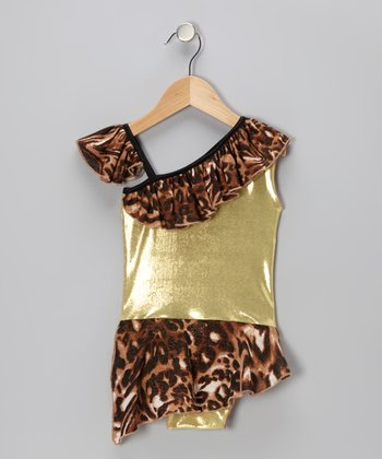 Cheetah Goldie Skirted Leotard - Infant & Toddler