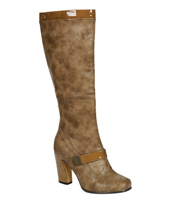 Khaki Alta Buckle Boot