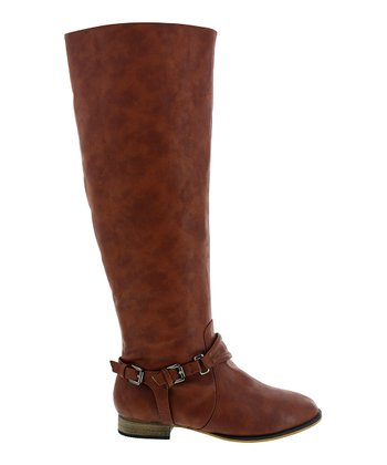 Cognac Ankle Buckle Carison Boot