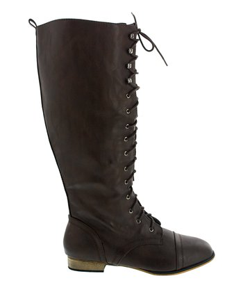 Brown Lace-Up Kaja Boot