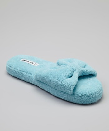 Light Blue Solid Slide Slipper
