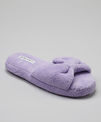 Lilac Solid Slide Slipper