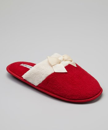 Red Color Block Slipper