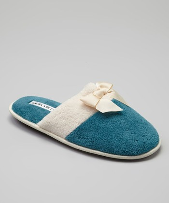 Blue-Green Color Block Slipper