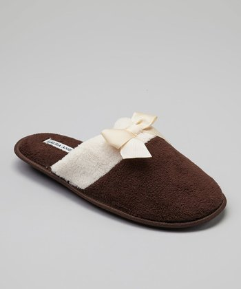Brown Color Block Slipper