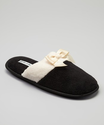 Black Color Block Slipper