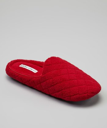 Red Quilted Slipper
