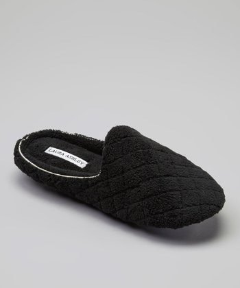 Black Quilted Slipper