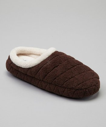 Brown Quilted Cozy Slipper
