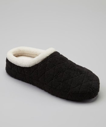 Black Quilted Cozy Slipper