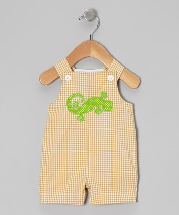 Yellow Gecko Shortalls - Infant & Toddler