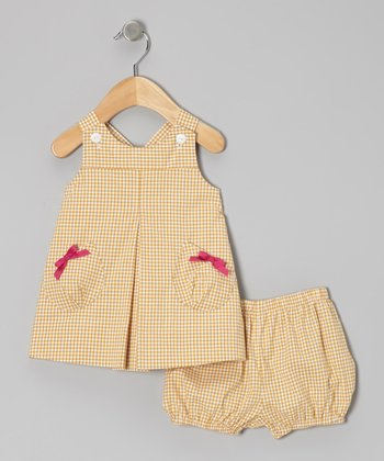 Yellow Gingham Jumper & Bloomers - Infant & Toddler
