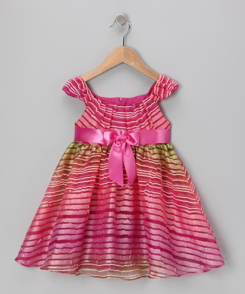 Pink Stripe Emma Dress - Toddler
