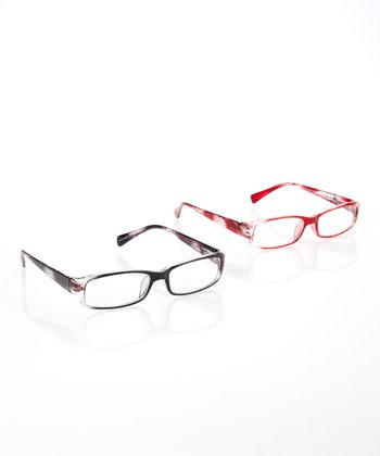 Black & Cranberry Readers Set