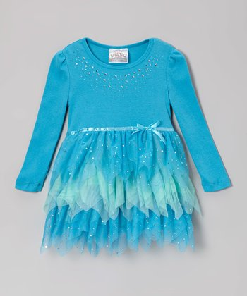 Turquoise & Green Tutu Dress
