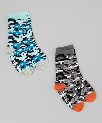 Blue & Gray Camo Socks Set