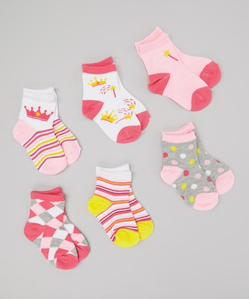 Pink & Yellow Princess Socks Set