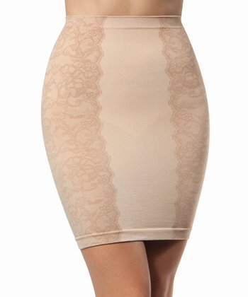 Tan Side Lace Shaper Half Slip - Women