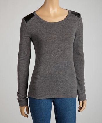 Charcoal Long-Sleeve Top