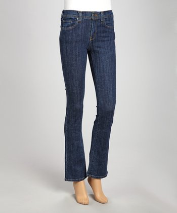 Medium Stone-Washed Midrise Bootcut Jeans
