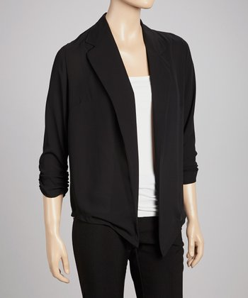 Black Ruched Blazer