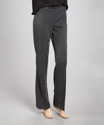 Gray Chain Link Wide-Leg Pants