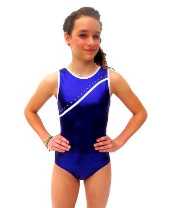 Purple Rhinestone Bree Leotard - Girls
