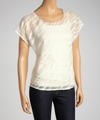 White Sheer Crisscross Top