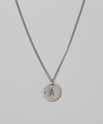 Stainless Steel Initial Necklace –  A to M