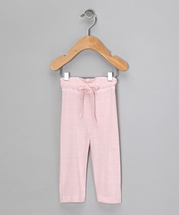 Light Pink Organic Yoga Pants - Infant