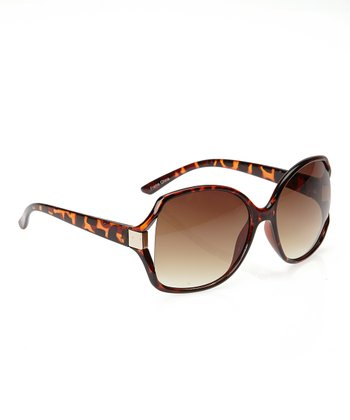 Brown Tortoiseshell Butterfly Sunglasses