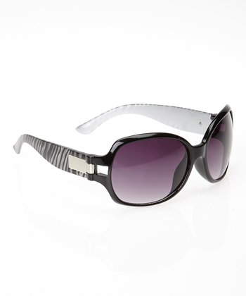 Black & White Zebra Sunglasses