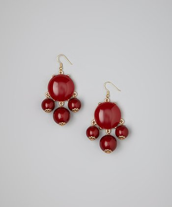 Burgundy Bubble Earrings