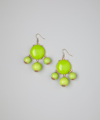 Lime Bubble Earrings