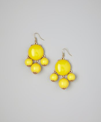 Yellow Bubble Earrings