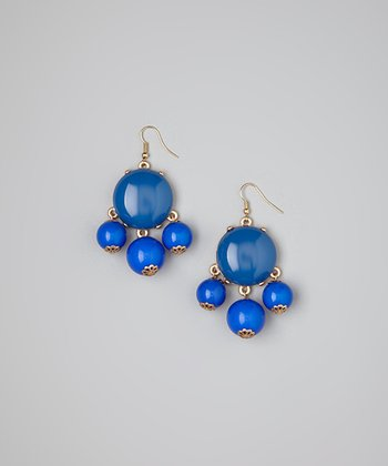 Royal Blue Bubble Earrings