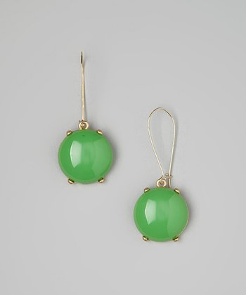 Green Bubble Drop Earrings