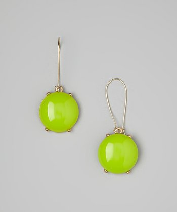 Lime Bubble Drop Earrings