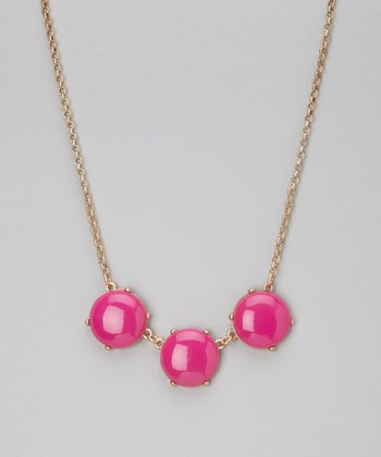 Fuchsia Stone Necklace
