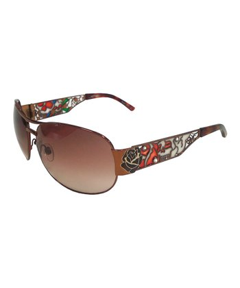 Cocoa Graffiti Pilot Sunglasses