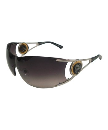 Gunmetal Rimless Sunglasses