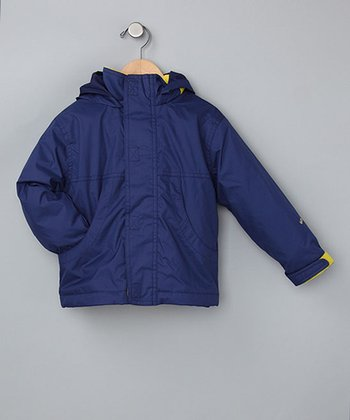 Navy Toasty Fleece Backpack Jacket - Toddler & Kids