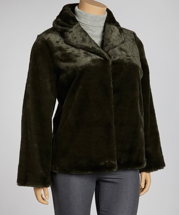 Sage Faux Fur Jacket - Plus