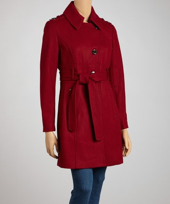 Garnet Wool-Blend Trench Coat - Petite